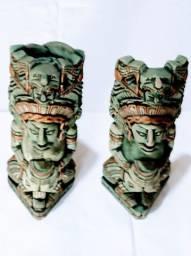 Totens Inca Asteca Escultura De Resina 26x10cm