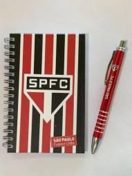 Kit Cardeneta + caneta do São Paulo