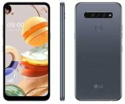 Smartphone LG K61 128GB Titânio 4G Octa-Core - 4GB Ram 6,53? Câm. Quádrupla + Selfie 16MP
