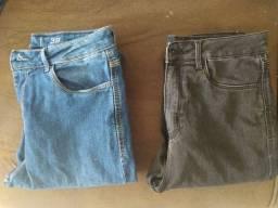 Calça jeans e shorts