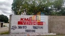 Vende-se terreno de esquina todo murado - KM IMÓVEIS