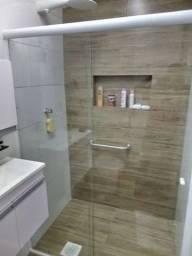 Box completo para banheiro e espelho