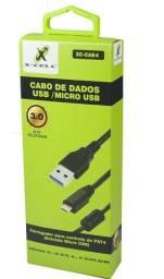 Cabo De Dados USB/Micro USB -Ps4/Ps3