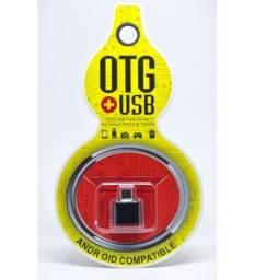 OTG tipo C- ou V8 Adaptador para celular USB fêmea