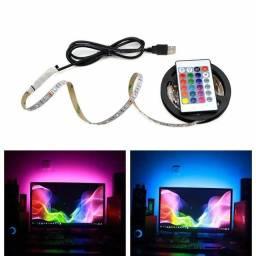 Fita LED RGB USB 4 Metros - Pronta Entrega