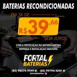 Título do anúncio: Bateria 60Ah Moura da Strada, Gol e Uno Entrega e Instalação Grátis