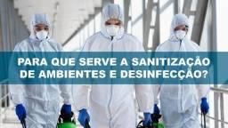 Sanitização contra convide e Bacterias