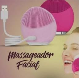 Esponja elétrica massageador forever limpeza facial