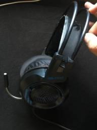 Headset gamer RGB Knup kp37