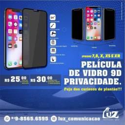 Película 9d privacidade para iPhone