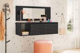 Penteadeira suspensa com espelho