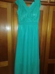 Vestido social verde