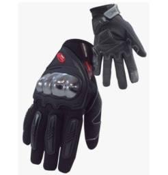 Luva Racing Shield Nasa Preta Com Proteção Motociclistas
