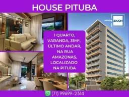 House Pituba, 1 quarto, apartamento com 31m² - Surreal