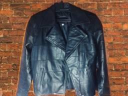 Jaqueta OMK couro legítimo preto
