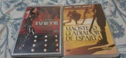 Dois DVDs Ivete Sangalo e filme O Gladiador de Esparta