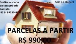Compre sua casa parcelada de 1 a 3 quartos