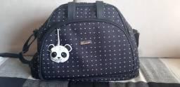 Kit bolsas maternidade (branco e preto) com chaveiro de panda