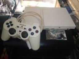 PDOGAMES, PS2 branco original, acompanha 1 jogo lacrado, garantia, até 12x sem juros!