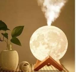 Umidificador Aromatizador Luminária Abajur Lua 3d