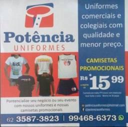 Camisetas/promocionais/ uniformes/ p/eventos/profissionais/escolares