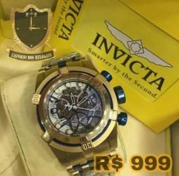 Invicta bolt zeus original com certificados e 2 anos de garantia na relojoaria