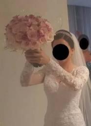 Vestido De Noiva Primeira Noiva Tamanho 36 38 Acompanha Sapa