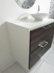 Cabine para banheiro + Pia tipo cuba