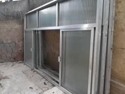3 janelas alumínio grandes