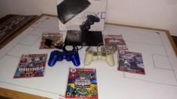 Playstation 2 bem conservado 2 controles desbloqueado