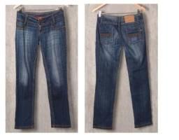 Calça Jeans Feminina E Bermuda Com Pérolas Kit 5 Peças