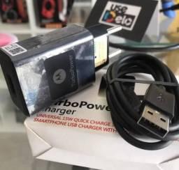 Carregador Motorola turbo com função turbo Power novos na caixa com garantia