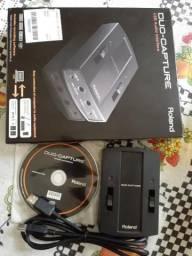 Interface de áudio Roland p/ gravação na caixa