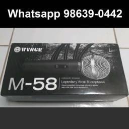 Microfone Profissional M58 + cabo de 5m (Novo, aceito cartão)