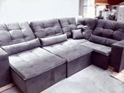 Título do anúncio: Sofá de canto retrátil e reclinável creta
