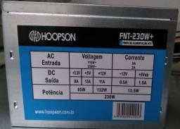 Fonte de alimentação ATX 230W nominal Hoopson - FNT-230W-H