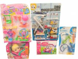 Kit com 5 Brinquedos variados entrega grátis 12x s/juros