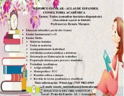 Reforço escolar, aulas de espanhol , consultoria acadêmica!