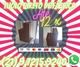 Tijolo 8 Furos Direto de Fábrica Rio de Janeiro (Entrega de 1 Milheiro)