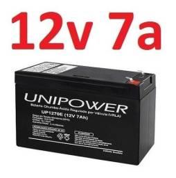 Bateria Selada 12v 7,0ah P/ Nobreak Up1270e Ot F187 Unicoba