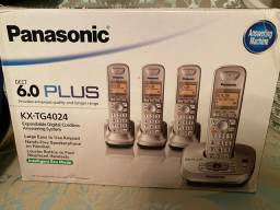 Jogo de 4 telefones Panasonic