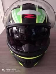 Capacete Zeus 813 Flag Brazil Black AN13 Fluor Green<br><br>