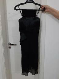 Vestido de festa de alça preto P