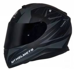 Capacete Mt Thunder3 Effect Matt Black / Grey Preto / Cinza