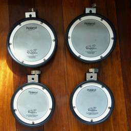 Pads de Bateria Eletronica Roland - várias peças