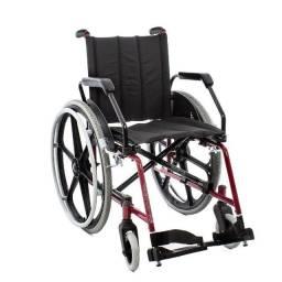 Cadeira de Rodas Cantu Plus - Vinho - Jaguaribe