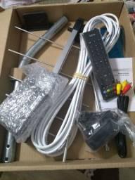 TV 29 (tubo) Panasonic +antena digital, controle remoto e conversor