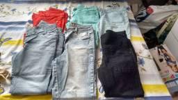 Desapego de calca jeans e calça legging