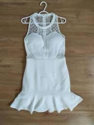 Vestido curto branco P