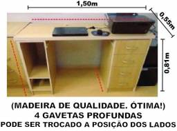 Mesa escritório + balcao